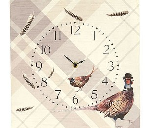 Pheasant Wooden Clock 008240