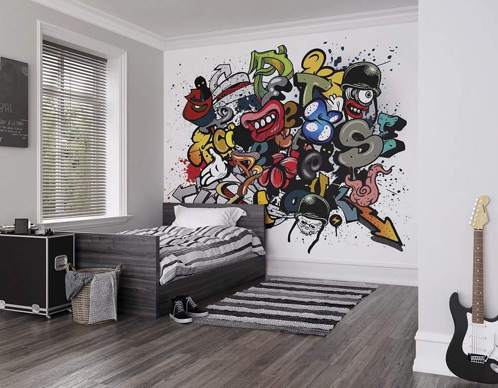 оказывается картинки комнаты с граффити видео время