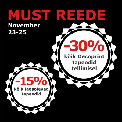 Must Reede superpakkumised 23-25.11.2018