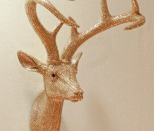 Star Studded Stag Champagne skulptuur 008218