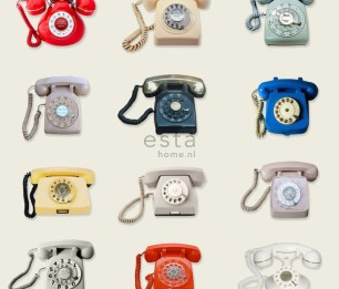 Wallpaper XXL Retro Telephones 158503