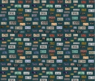 Wallpaper XXL Vintage License Plates 158502