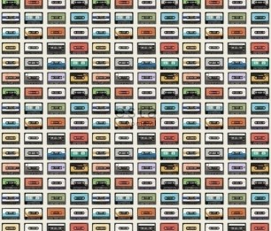 Обои XXL Vintage Cassettes 158506