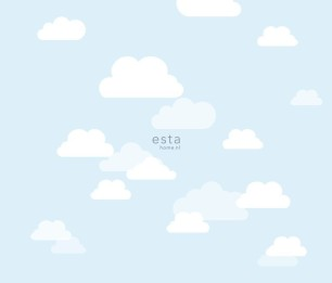 Photowall XL Clouds Baby Blue 158842