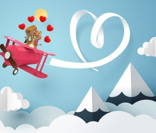 Pilttapeet Squirrel in Love 2055-001