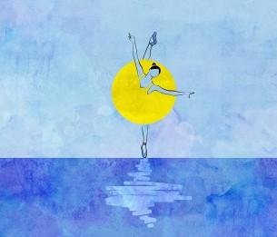 Pilttapeet Yellow Ballerina 2073-001