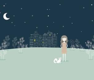 Pilttapeet White in the Night 2076-001