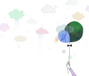 Pilttapeet The Balloon and The Clouds 2043-001