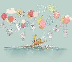 Pilttapeet Rabbits with Balloons 2052-001