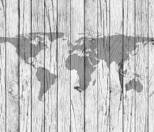 World Map Timber XLWS0372