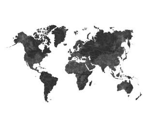 Fototapeet XL World Map Black&White 158941