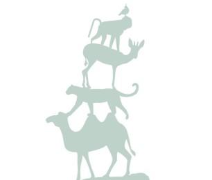 Фотообои XL Stack of Animals 158921