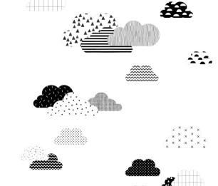 Фотообои XL Clouds black&white 158922