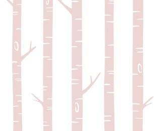 Фотообои XL Birch trees pink 158927